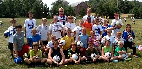 2014 British Soccer Camp campers
