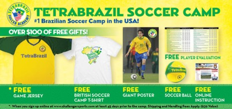 Challenger Sports - Tetra Brazil Soccer Camp Registration